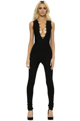 L Bandage Jumpsuit - Black