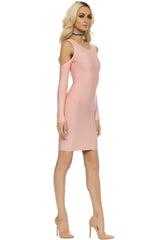 Asina Bandage Mini Dress - Blush