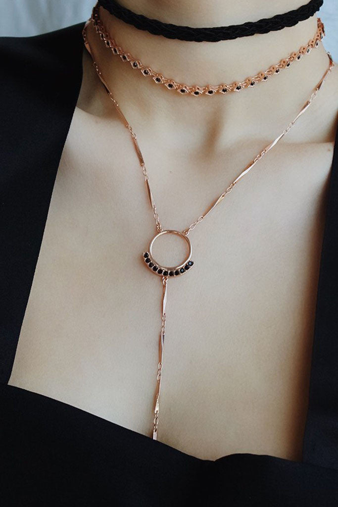 Diamond Kite Choker - Rose