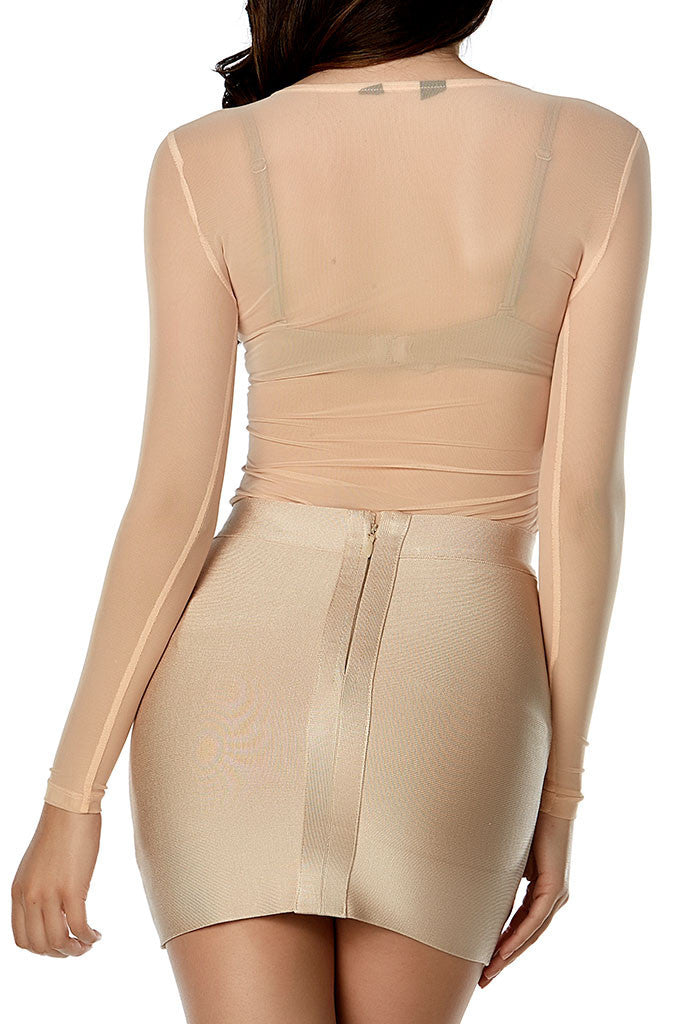 Liv Mesh Top - Nude