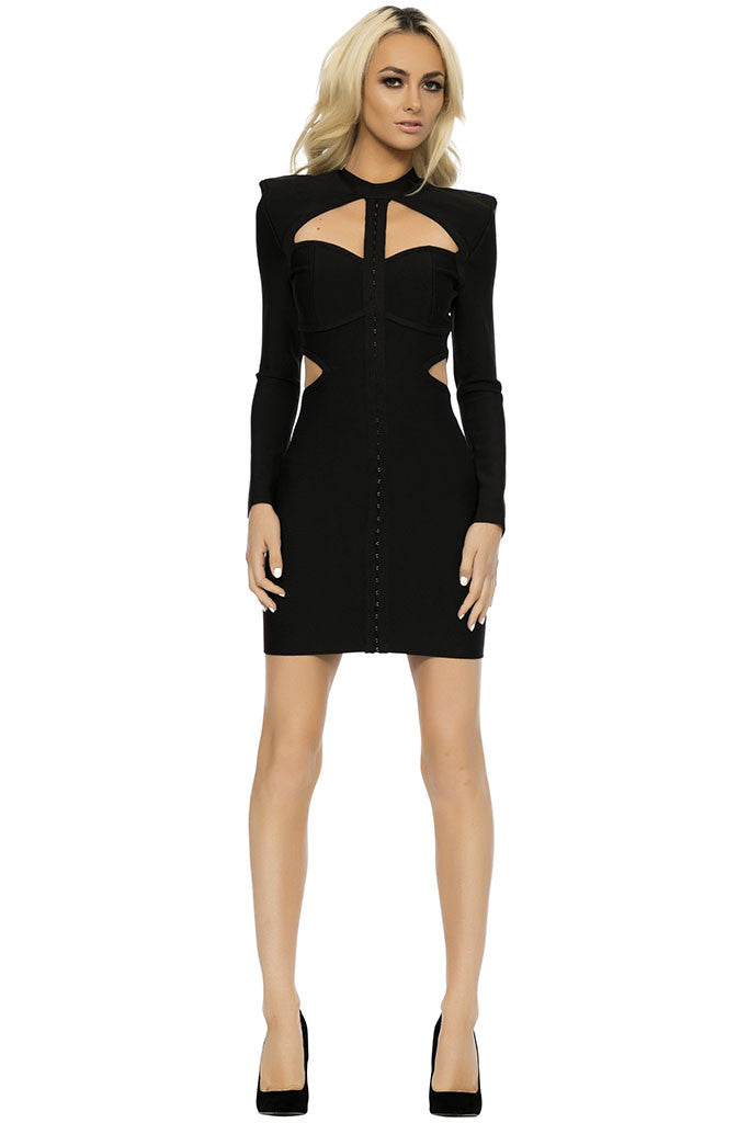Akyra Bandage Dress - Black