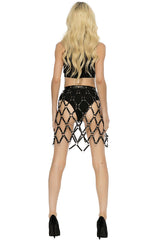 Devin Skirt Harness - Black