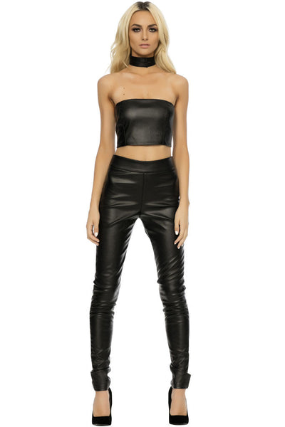 Ace Vegan Leather Three-Piece - Black