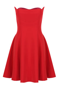 Azalea Strapless A- Line Dress - Red