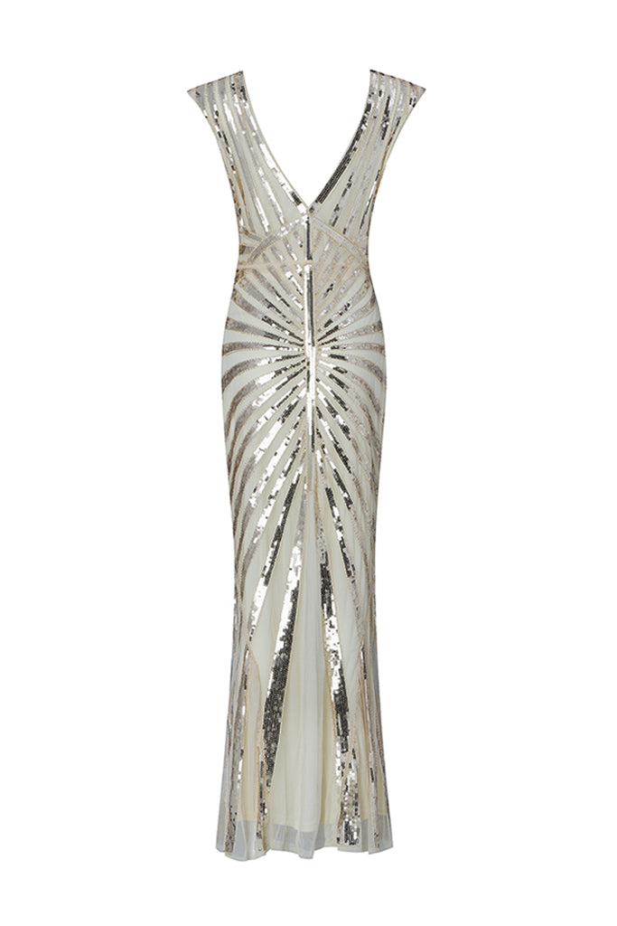 Ethel Luxury Sequins Gown- Gold