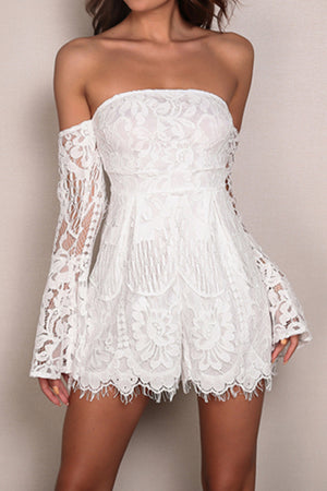 Sydney Lace Bell Sleeve Romper