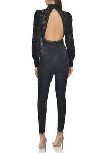 Brandy Lace Jumpsuit -Black