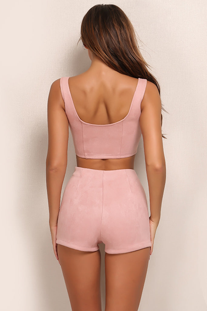 Laced up Hottie 2 Piece - Blush
