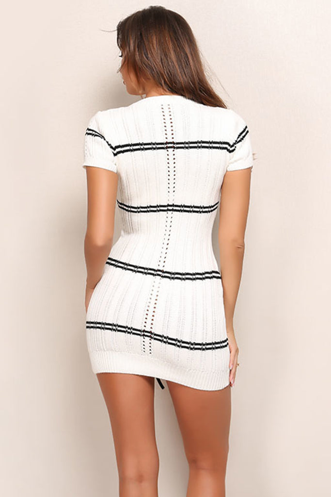 Parisian Knit Dress - White