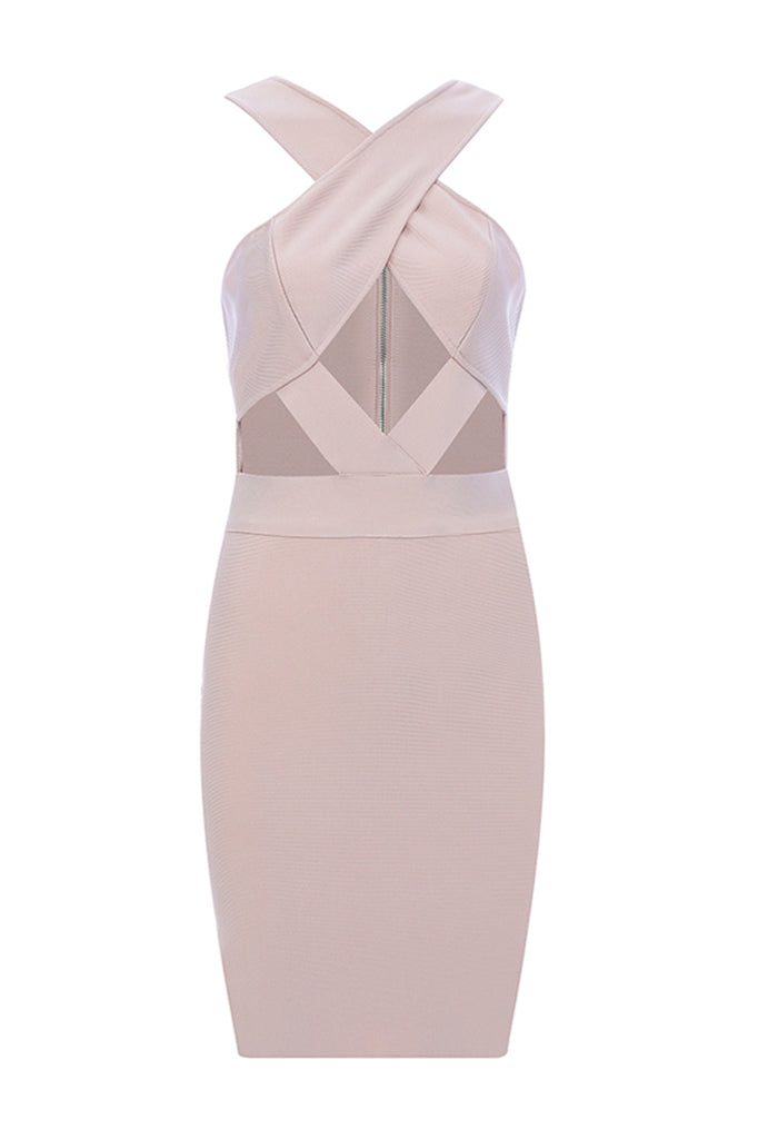 Stella Bandage Dress -Nude