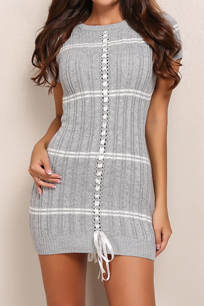 Parisian Knit Dress - Grey