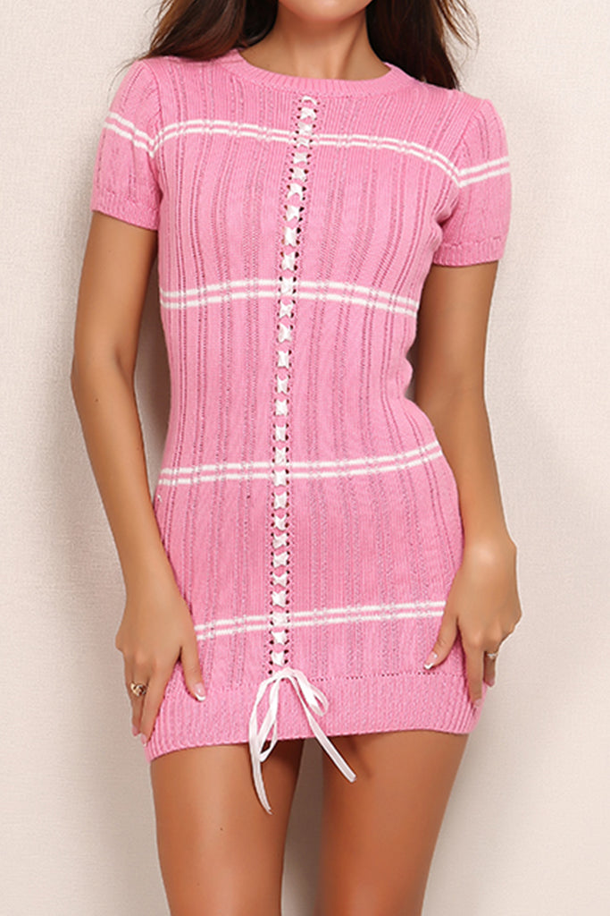 Parisian Knit Dress - Pink