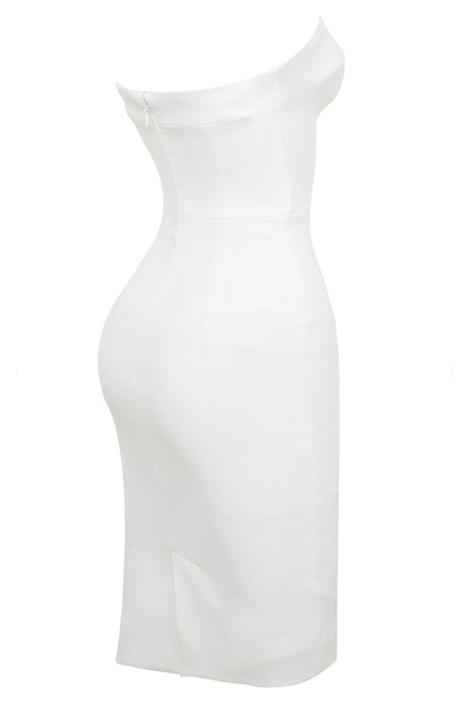 Cuba Fitted Strapless Mini Dress