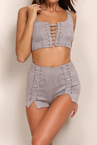 Laced up Hottie 2 Piece - Nude