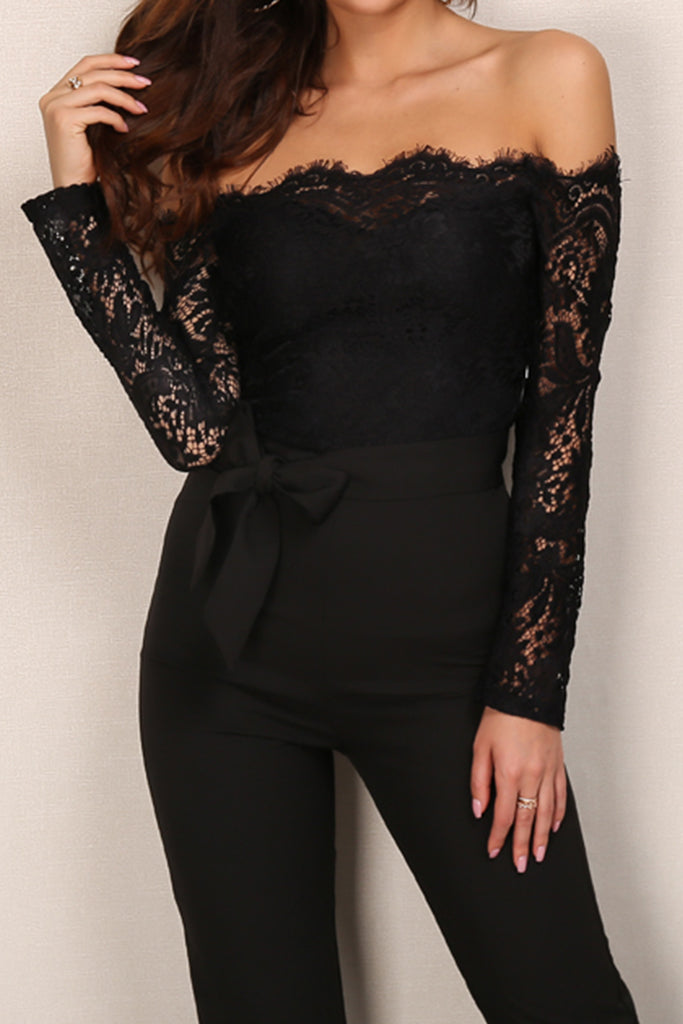 ff1eb1f67b08 Moulin Rouge Lace Jumpsuit - black