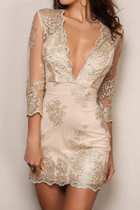 Laced Overlay Criss Cross Dress
