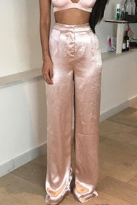 Bombay Satin Pant Set - Blush