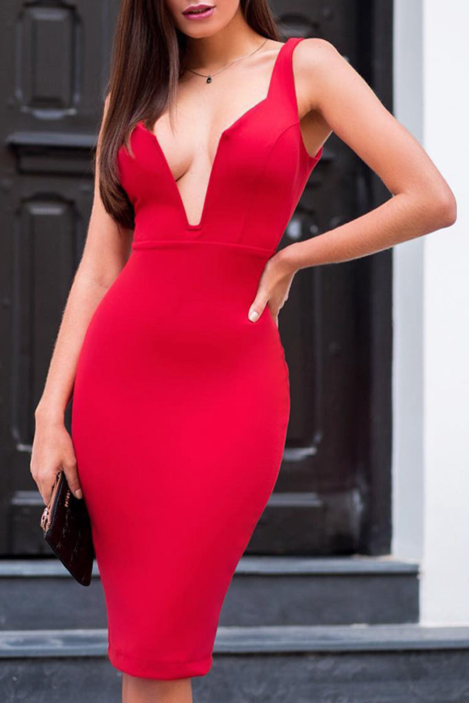 Sofia Bandage Dress - Red