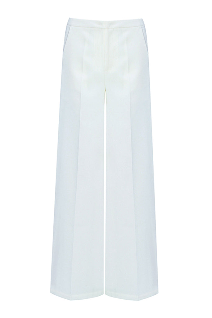 Ice Wide Leg Pant- White