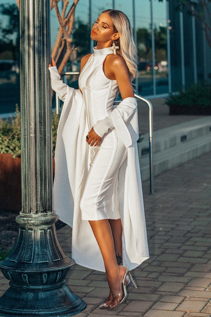Chea White Bandage Dress