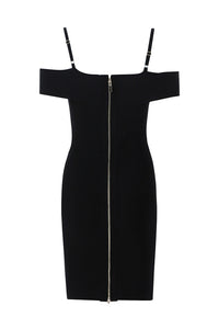 Rita Rivet Dress - Black