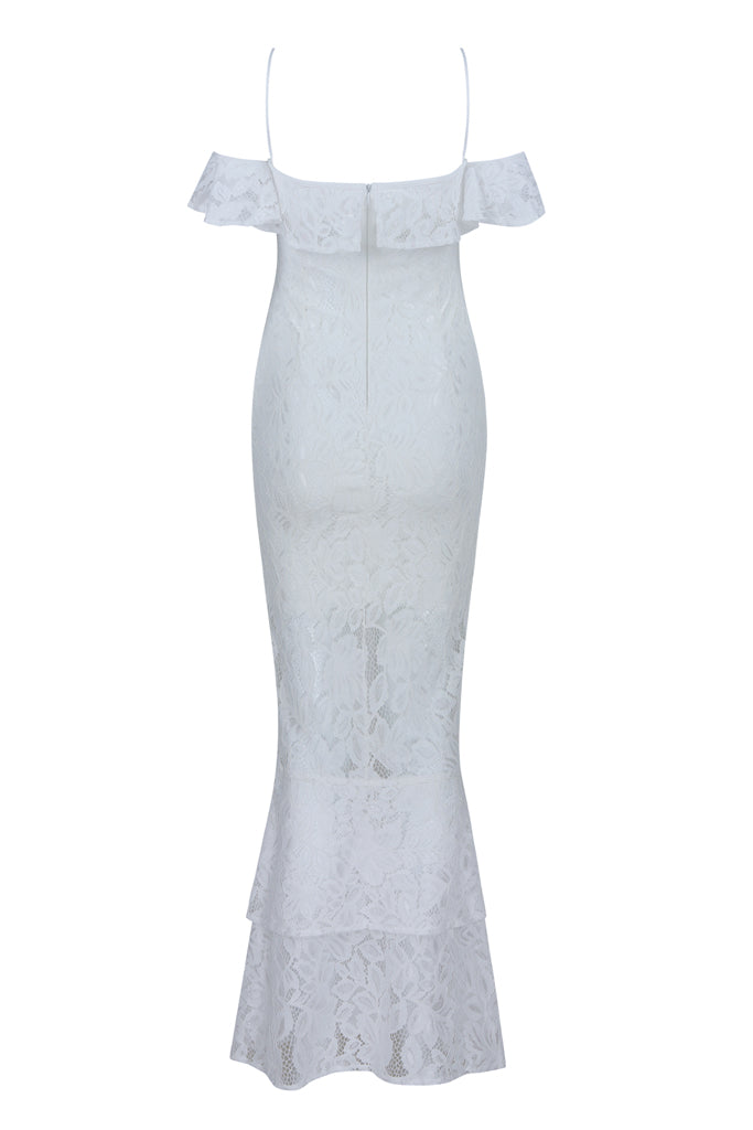Blanche Lace Bandage Gown- White