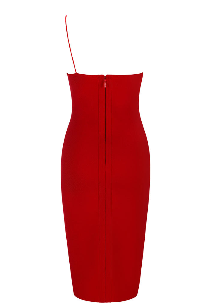Tarzana Bandage Dress - Red