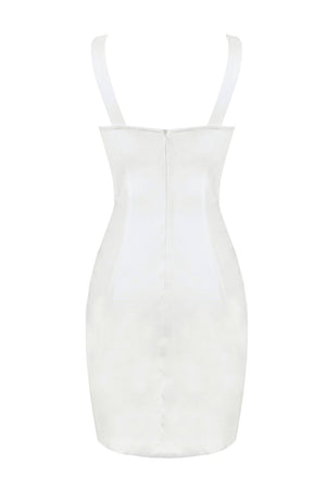 Elvira Bodycon Dress -White