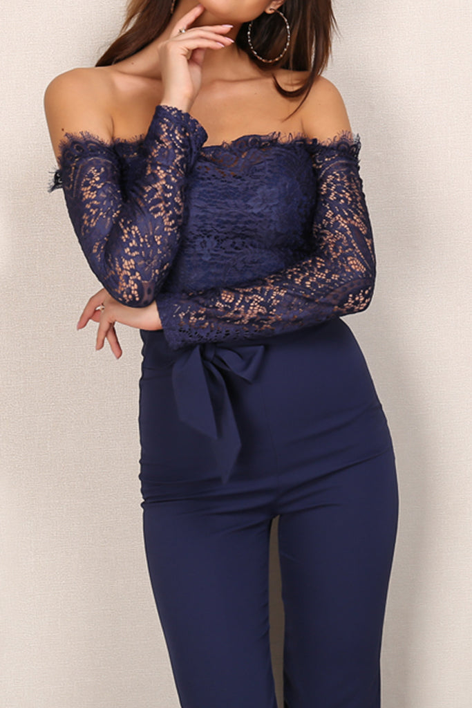 3cd9bf9b9ee9 Moulin Rouge Lace Jumpsuit - Navy – ANTIDOTE LA