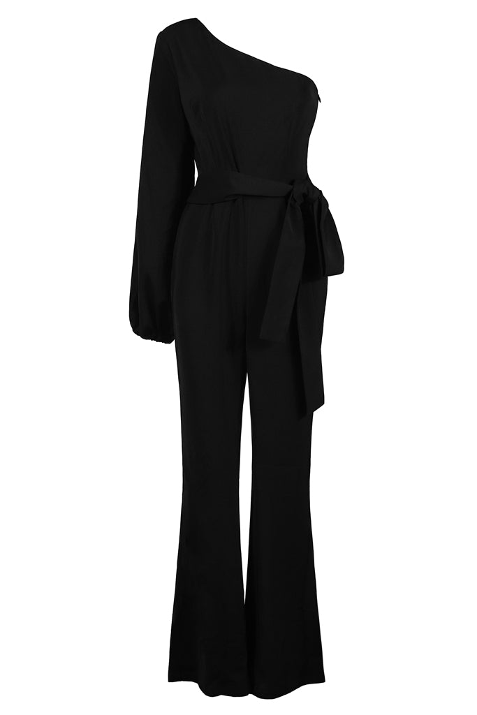 Prudence Bodycon Jumpsuit -Black