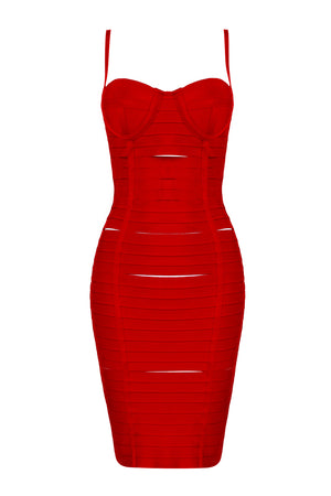 H5645 Bandage Dress - Red