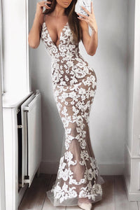 Aaliyah Lace Mermaid Maxi Gown