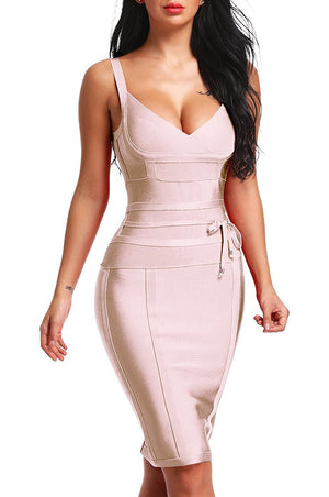 Linda Bandage Dress - Nude