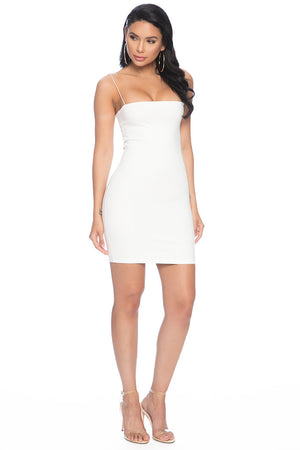 7th Street Classic String Tank Dress - White