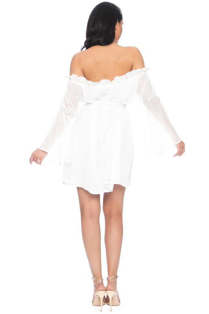 Capri Off the shoulder chiffon Dress