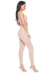 Park Ave High Waisted Legging - Nude