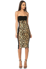 Crisia Leopard Lace Up Dress