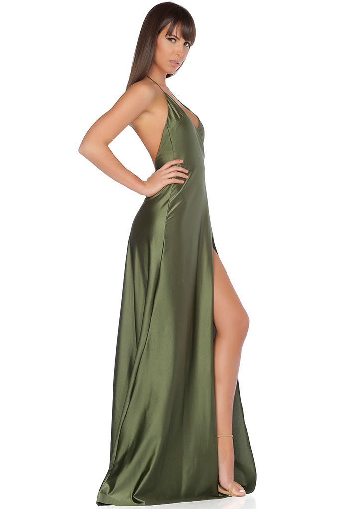 Olivia Evening Gown - Olive – ANTIDOTE LA