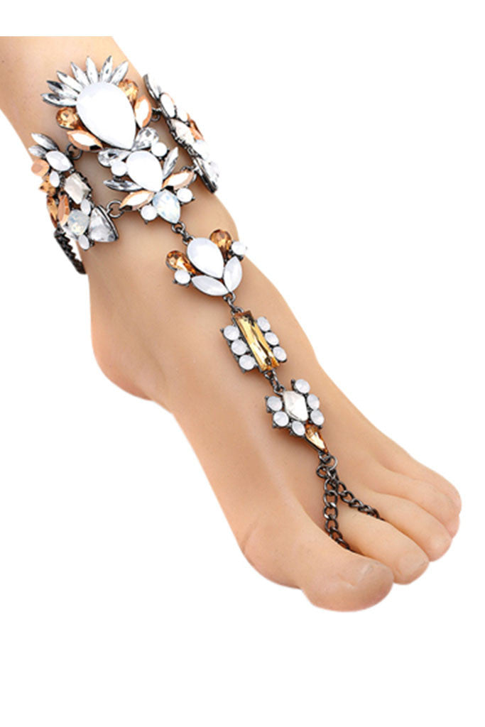 Embellished Foot Harness - Egyptian