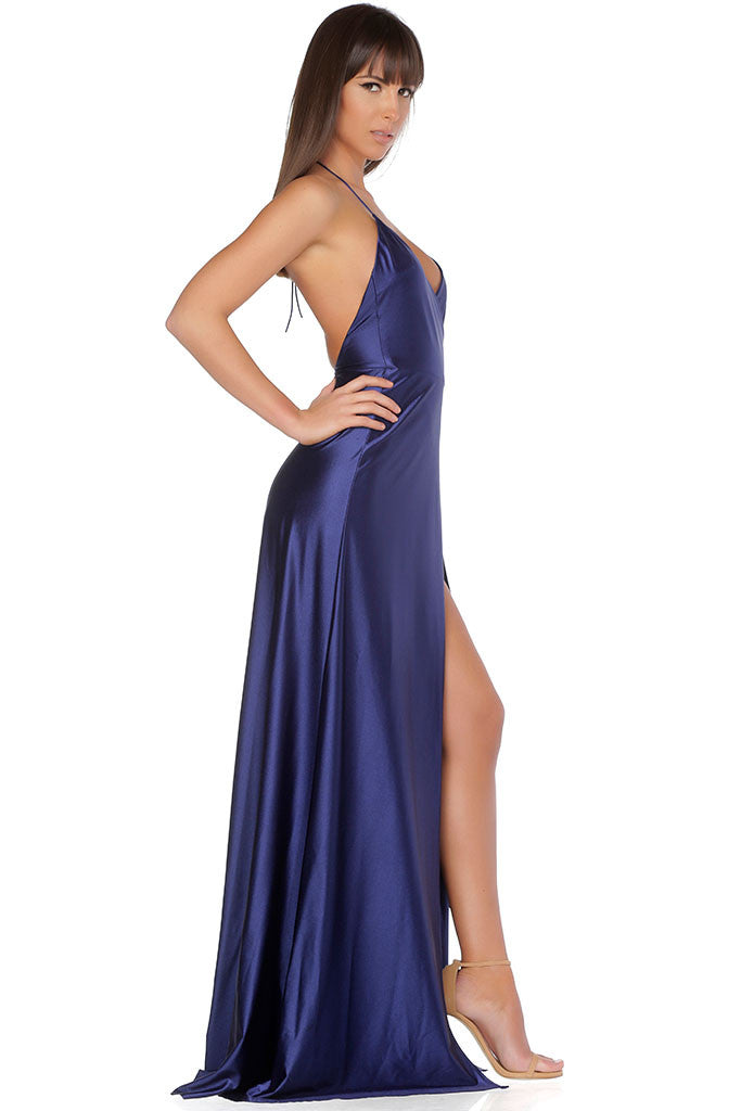 Olivia Evening Gown - Navy