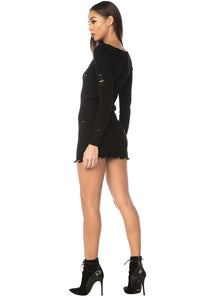 Kamio Sweater Dress - Black