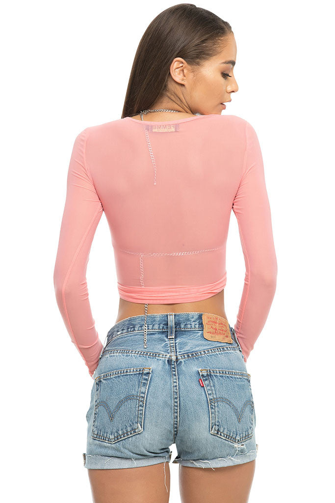 Liv Mesh Top - Hot Pink