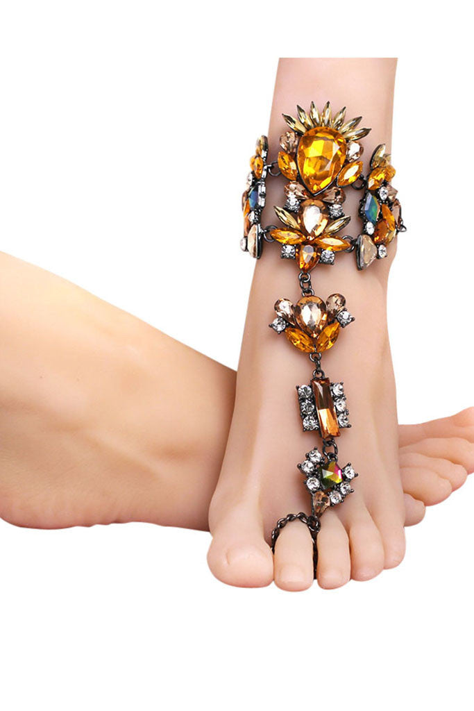 Embellished Foot Harness - Morroco