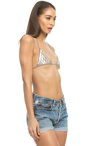 Heavy Metal Chain Bra - Silver