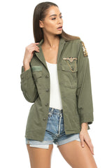 Vintage War Army Military Jacket