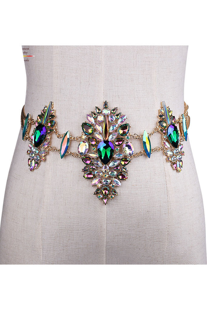 Embellished Jeweled Belt - Manga
