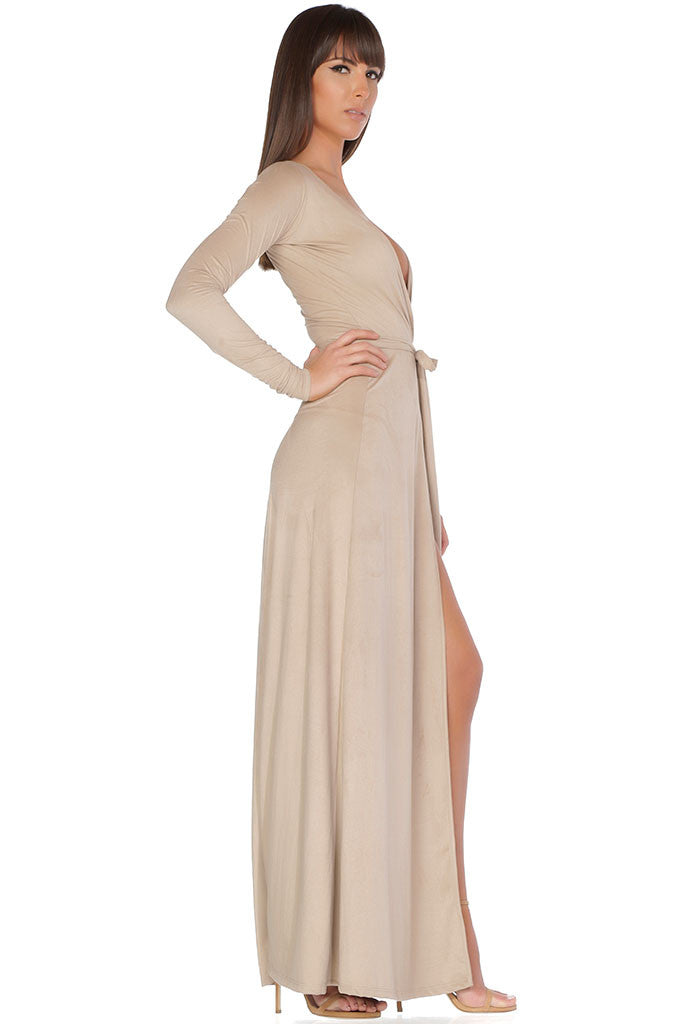 Georgina Cardigan / Wrap Dress - Nude