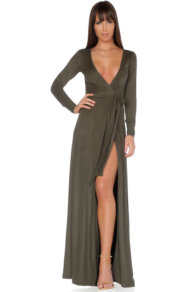Georgina Cardigan / Wrap Dress - Olive