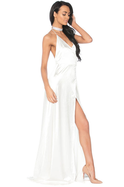 Olivia Evening Gown - White