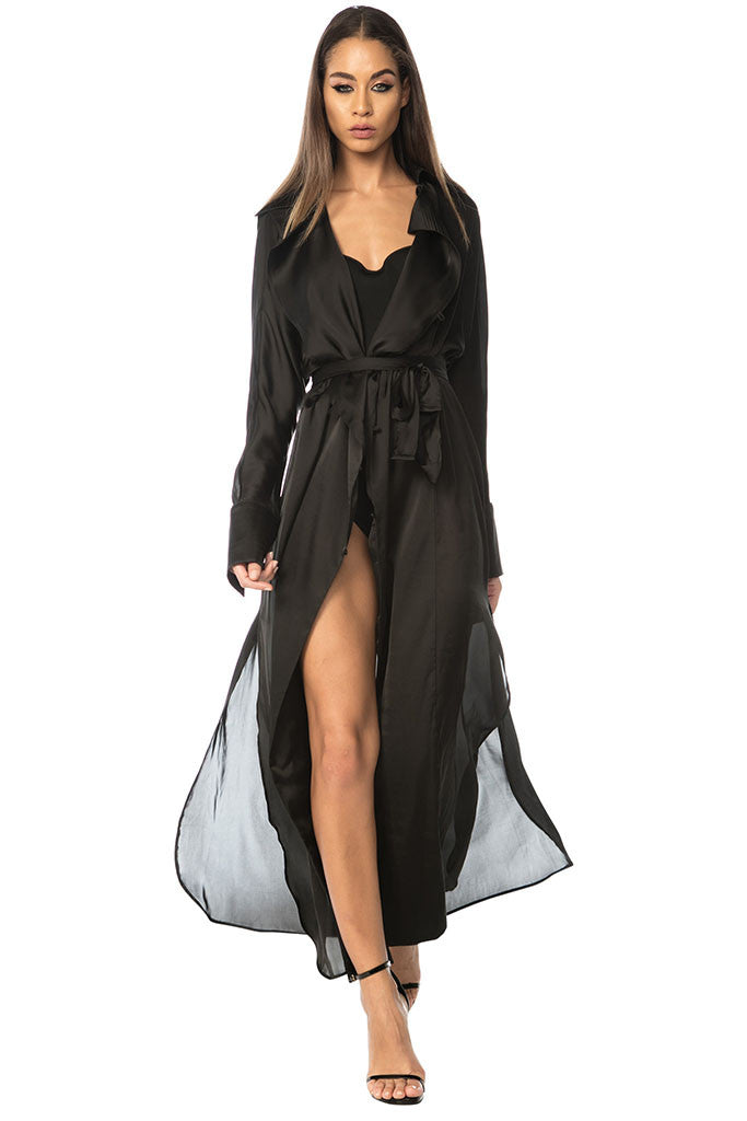 Penelope Duster Dress - Black